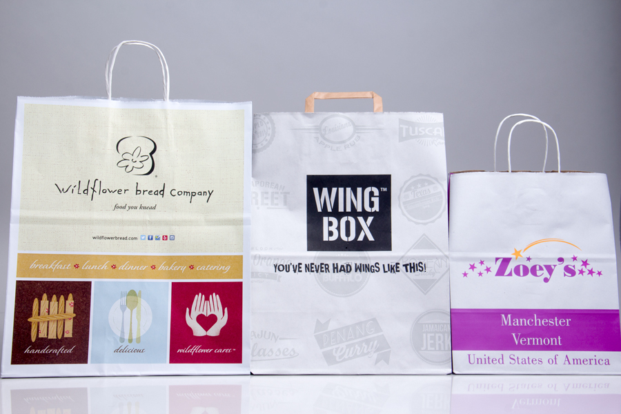 Custom Printed Paper Takeout Bags