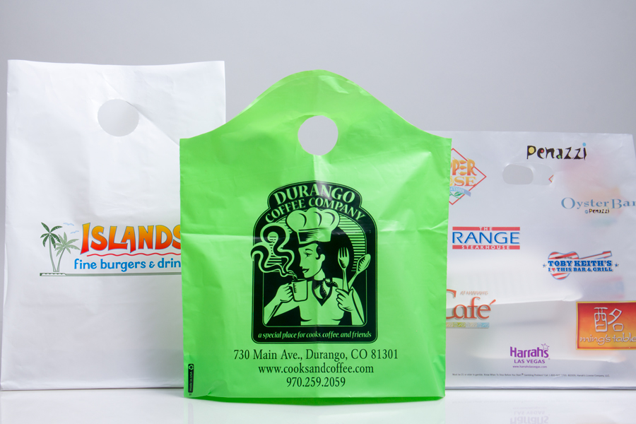 Custom Printed Plastic Takeout Bags