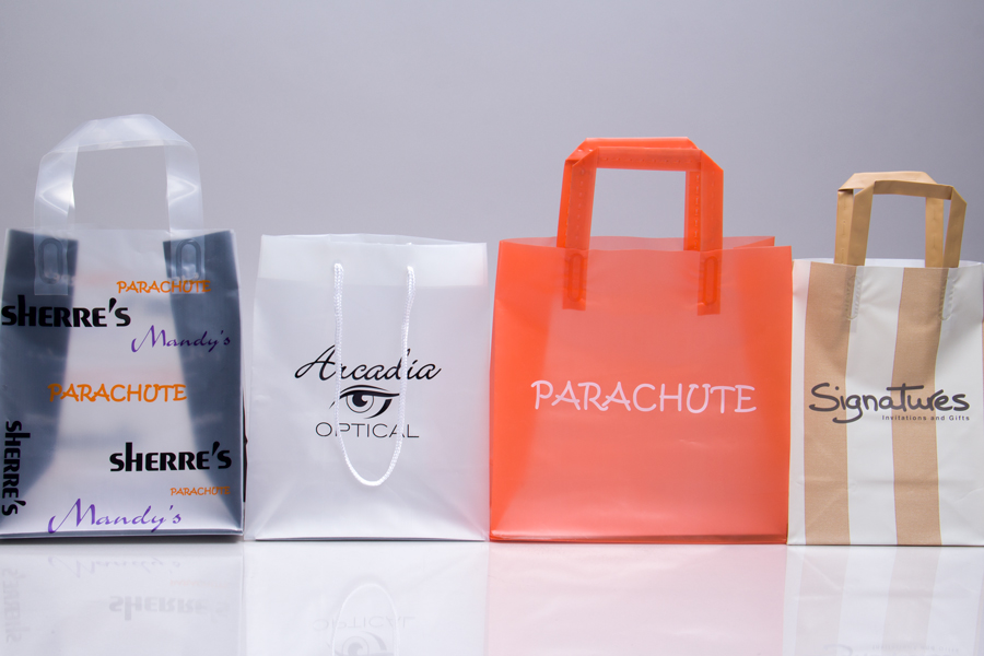 Custom Printed Plastic Shopping Bags and Eurototes