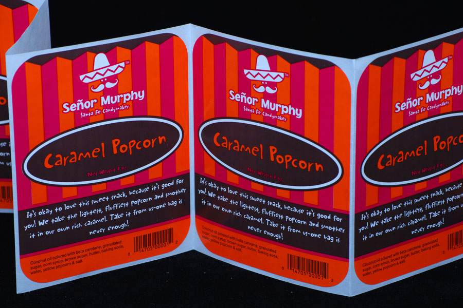 Custom Ink Printed Labels - Senor Murphy