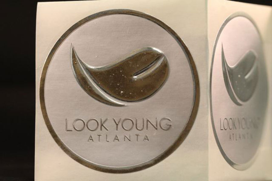 Custom Printed Hot Stamped Metallic Labels - Look Young Atlanta