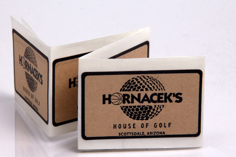 Custom Printed Ink Printed Natural Kraft Labels - Hornacek Golf