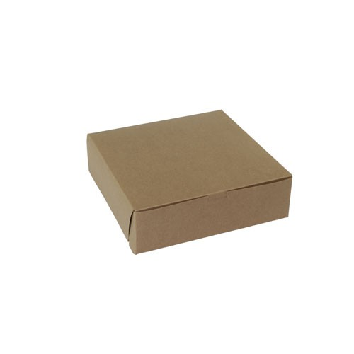 10 x 10 x 3 NATURAL KRAFT ONE-PIECE BAKERY BOXES