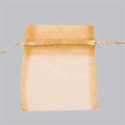 3 x 4 GOLD SHEER ORGANZA POUCHES
