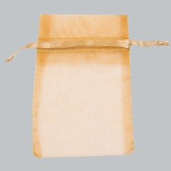5.5 x 9 GOLD SHEER ORGANZA POUCHES