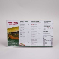 8.5 x 14 CLEAR VINYL MENU SLEEVES