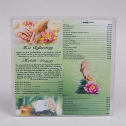 10.5 x 10.5 CLEAR VINYL MENU SLEEVES