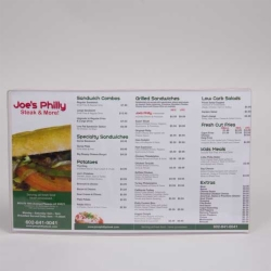 8.5 x 14 CLEAR VINYL MENU SLEEVES W/ INSERTS