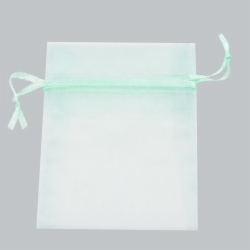 5 x 6.5 PASTEL GREEN SHEER ORGANZA POUCHES