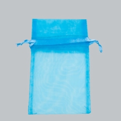 5.5 x 9 TURQUOISE SHEER ORGANZA POUCHES