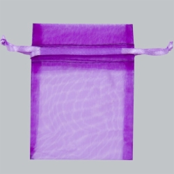 5 x 6.5 ULTRA VIOLET SHEER ORGANZA POUCHES