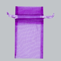 5.5 x 9 ULTRA VIOLET SHEER ORGANZA POUCHES