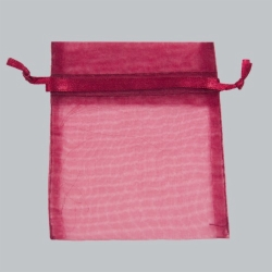 3 x 4 BURGUNDY SHEER ORGANZA POUCHES