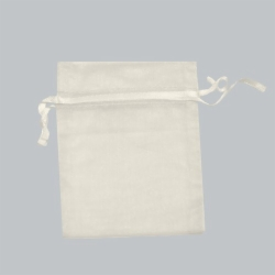 3 x 4 IVORY SHEER ORGANZA POUCHES