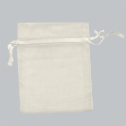 5 x 6.5 IVORY SHEER ORGANZA POUCHES