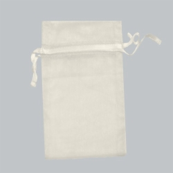 5.5 x 9 IVORY SHEER ORGANZA POUCHES