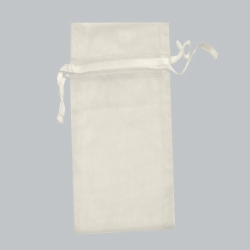 6 x 14 IVORY SHEER ORGANZA POUCHES