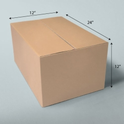 24 x 12 x 12 NATURAL KRAFT CORRUGATED SHIPPING BOXES