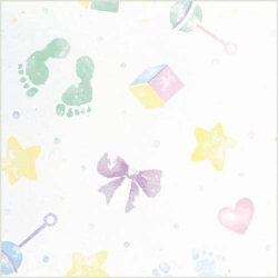 20 x 30 BABY PRINTS TISSUE PAPER
