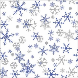 20 x 30 SILVER/PURPLE SNOW HOLIDAY TISSUE PAPER