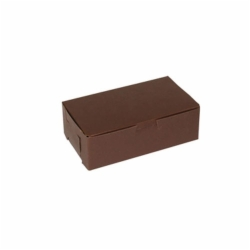 6.25 x 3.75 x 2.125 CHOCOLATE ONE-PIECE BAKERY BOXES