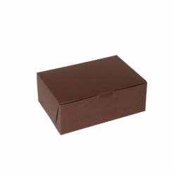 8 x 5.5 x 3 CHOCOLATE ONE-PIECE BAKERY BOXES