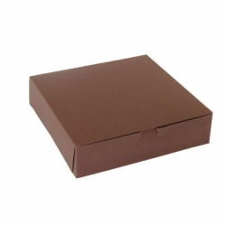 10 x 10 x 2.5 CHOCOLATE ONE-PIECE BAKERY/CUPCAKE BOXES
