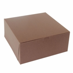 12 x 12 x 5 CHOCOLATE ONE-PIECE BAKERY BOXES