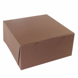 14 x 14 x 6 CHOCOLATE ONE-PIECE BAKERY BOXES