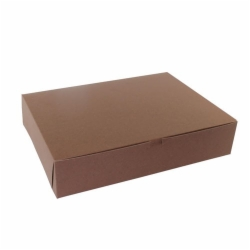 19.5 x 14 x 4 (1/2 SHEET) CHOCOLATE TWO-PIECE BAKERY BOXES