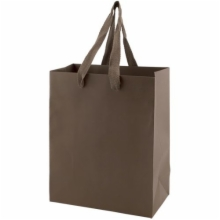 8 x 4 x 10 MATTE CHOCOLATE TINTED PAPER EUROTOTES