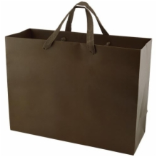 16 x 6 x 12 MATTE CHOCOLATE TINTED PAPER EUROTOTES