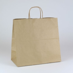 13 x 7 x 12.5 ECONOMY NATURAL KRAFT PAPER SHOPPING BAGS