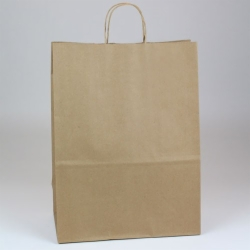 13 x 7 x 17.5 ECONOMY NATURAL KRAFT PAPER SHOPPING BAGS