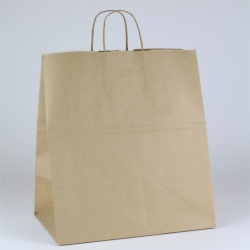 14 x 9.5 x 16.25 ECONOMY NATURAL KRAFT PAPER SHOPPING BAGS