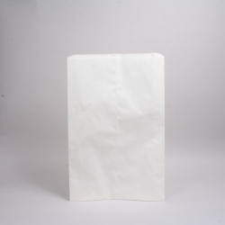 6.25 x 9.25 WHITE PAPER MERCHANDISE BAGS
