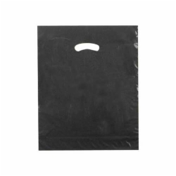 15 x 18 x 4 BLACK SUPER GLOSS PLASTIC BAGS