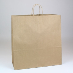 18 x 7 x 18.75 ECONOMY NATURAL KRAFT PAPER SHOPPING BAGS