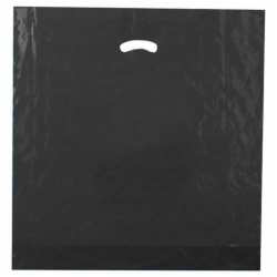 20 x 20 x 5 BLACK SUPER GLOSS PLASTIC BAGS