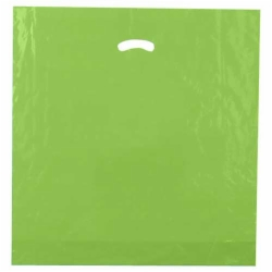 20 x 20 x 5 CITRUS GREEN SUPER GLOSS PLASTIC BAGS