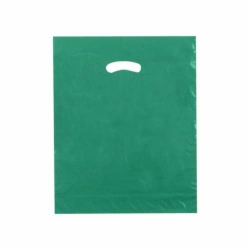 15 x 18 x 4 DARK GREEN SUPER GLOSS PLASTIC BAGS