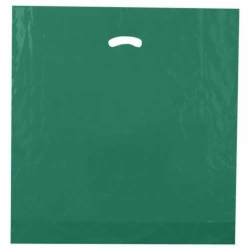 20 x 20 x 5 DARK GREEN SUPER GLOSS PLASTIC BAGS
