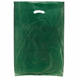 16 x 4 x 24 DARK GREEN SATIN HIGH DENSITY PLASTIC BAGS