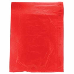 12 x 15 RED SATIN HIGH DENSITY PLASTIC BAGS
