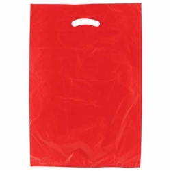 13 x 3 x 21 RED SATIN HIGH DENSITY PLASTIC BAGS