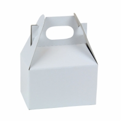 4 x 2.5 x 2.5 WHITE GLOSS GABLE BOXES