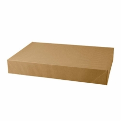 17 x 11 x 2.5 NATURAL KRAFT PINSTRIPE APPAREL BOXES