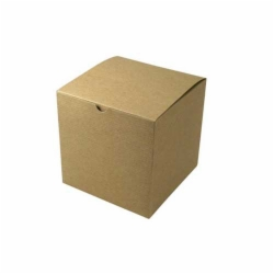 7 x 7 x 7 NATURAL KRAFT PINSTRIPE TUCK-TOP GIFT BOXES