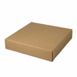 12 x 12 x 2.5 NATURAL KRAFT PINSTRIPE TWO-PIECE GIFT BOXES