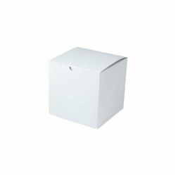 6 x 6 x 4 WHITE GLOSS TUCK-TOP GIFT BOXES